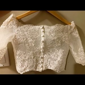 Tops - Ivory lace Wedding dress topper